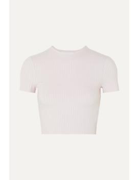 Esmée Verkürztes T Shirt Aus Geripptem Stretch Jersey by Calé