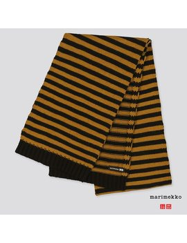 Women Marimekko Heattech Knitted Scarf by Uniqlo
