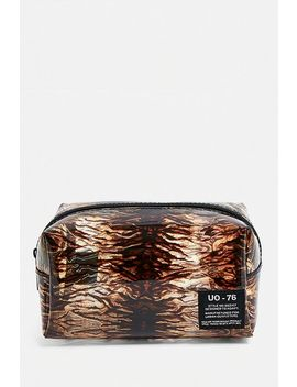 Uo Patterned Plastic Makeup Bag by Urban Outfitters