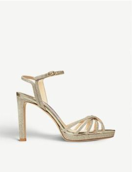 Lilah 100 Glittered Sandals by Jimmy Choo