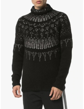 Fairisle Wool Roll Neck Jumper by Martin Diment
