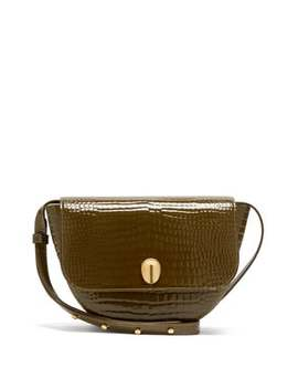 Billy Crocodile Embossed Leather Cross Body Bag by Wandler