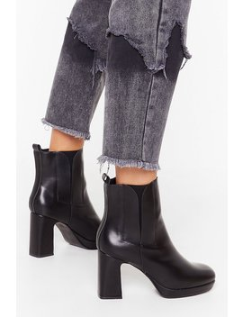 Heel The Love Faux Leather Boots by Nasty Gal