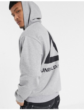 Asos Design Oversized Hoodie In Grey With Back Triangle Print by Asos Design