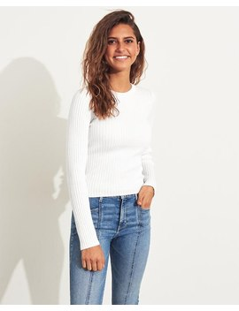 Ribbed Slim Crewneck Sweater by Hollister