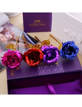 Rose Flower Multi Color Plated Rose Romantic Valentine S Day Mother Lover Friend Best Gift by Wish