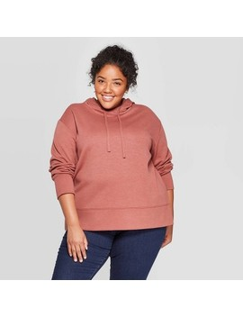 Women's Plus Size Long Sleeve Pullover Hoodie   Ava & Viv™ by Ava & Viv