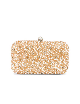 Mini Pearl Box Clutch In Champagne by From St Xavier