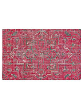 Celine Hand Knotted Rug, Rust/Aqua by One Kings Lane