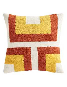 Geometric Squares Rust & Red Pillow by Pier1 Imports