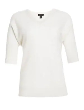 Link Stitch Dolman Cashmere Sweater by Saks Fifth Avenue