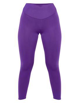 Prettylittlething Purple High Waisted Gym Legging by Prettylittlething