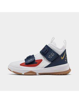 Big Kids' Nike Le Bron Soldier 13 La Basketball Shoes by Nike