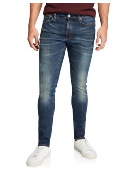 Ovadia & Sons Mens Skinny Indigo Resin Jeans by Ovadia & Sons