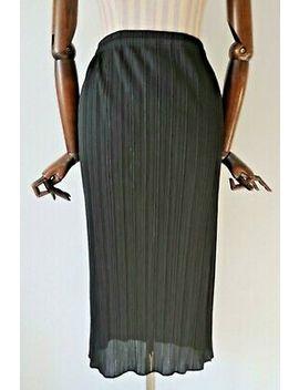 <Span><Span>Issey Miyake Pleats Please Black Pleated Straight Midi Skirt   Uk 8</Span></Span> by Ebay Seller