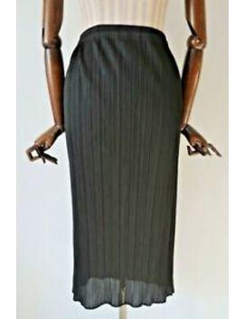 Issey Miyake Pleats Please Black Pleated Straight Midi Skirt   Uk 8 by Ebay Seller