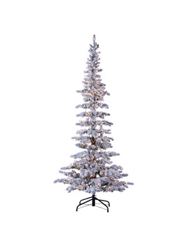 Sterling 7.5ft. Pre Lit Flocked Narrow Austin Pine With 400 Clear Lights by Sterling