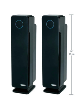 "Germ Guardian Elite, 28"" Hepa Tower Air Purifier With Digital Display, 2 Pack by Germ Guardian"