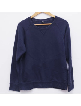 Uniqlo Sweatshirt Navy Blue Pit 22 by Uniqlo  ×