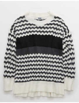 Aerie Fairisle Oversized Sweater by American Eagle Outfitters