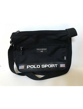 Vintage 90's Ralph Lauren Polo Sport Black Cross Body Shoulder Messenger Bag by Ebay Seller