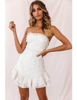 Cece Embellished Bandeau Dress Beige by Selfie Leslie