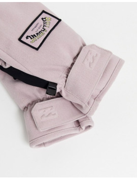 Billabong Stoke Ski Mitt Gloves In Light Pink by Billabong