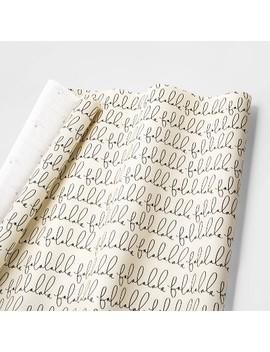 Falala Cream & Black Gift Wrap Single Roll   Sugar Paper™ by Sugar Paper