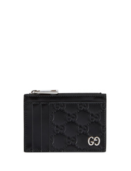 Men's Gg Embossed Zip Card Case by Gucci