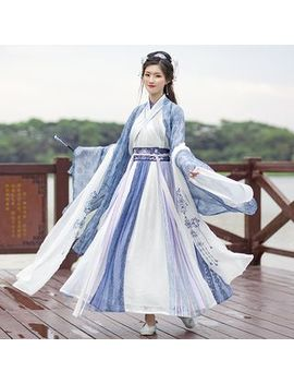 Nuwa   Hanfu Set: Light Jacket + Long Sleeve Top + Maxi Skirt + Scarf by Nuwa