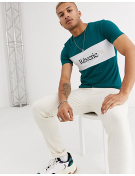 Asos Design Skinny T Shirt With Stretch And Color Block With French Text by Asos Design