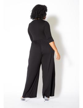 Asoph Plus Size Casual Scoop Neck Flowy Women Jumpsuit by Asoph