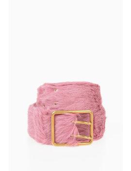 50mm Pony Skin Belt by Prada