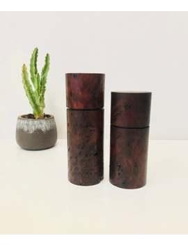 Pepper & Salt Grinder, Mill, Australian Wood, Handmade Item, Recycled Timber, Jarrah Burl by Etsy
