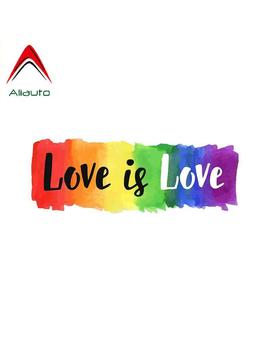 Aliauto Car Sticker Love Is Love Gay Pride Decorative Cover Scratch Sunscreen Decal For Jdm Passat B6 Lada Suzuki Swift,13cm*5cm by Ali Express.Com