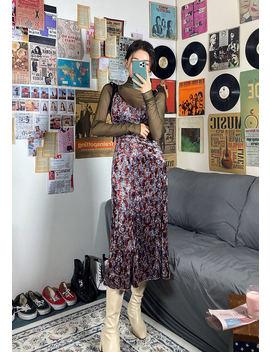 빈티지 플라워 벨벳 Top+Skirt Set by Chuu