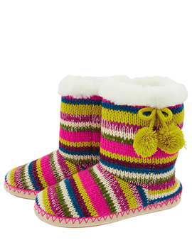 Fairweather Striped Knitted Boots by Accessorize