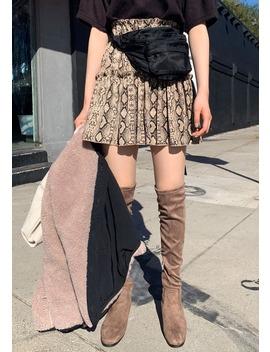 Cancan Desire Python Mini Skirt by Chuu