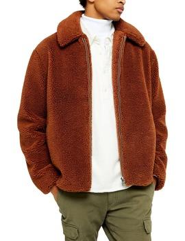 Slim Fit Faux Shearling Teddy Coat by Topman