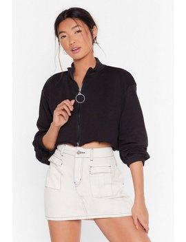 Crop Zip Sweatshirt by Nasty Gal