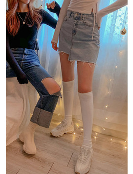To Fit Them All Denim Skirt by Chuu