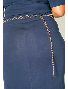 Plus Size Customized Layered Cubic Chain Belt by Asoph