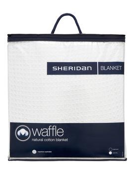 Ultrasoft Cotton Waffle Blanket In White by Sheridan