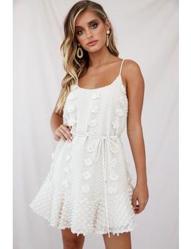 Montville Cami Strap Embellished Dress Beige by Selfie Leslie