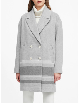 Oversized Double Faced Cocoon Coat by Banana Repbulic