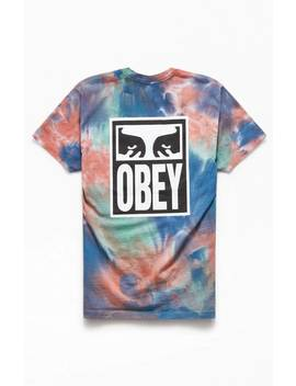 Obey Eyes Icon Tie Dyed Icon T Shirt by Pacsun
