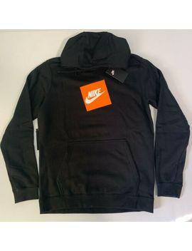 Nike Sportswear Logo Top Mens Pullover Hoodie Black Size M Casual Sweatshirt by Nike