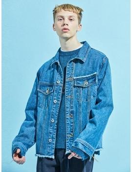 [Unisex] Denim Jacket Mid Blue by Nohant
