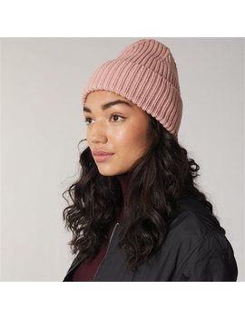 Love And Lore Ribbed Beanie Hat Rosy Pink by Love & Lore