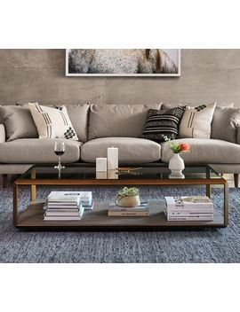 Doncaster Shagreen Shadow Box Coffee Table by Pottery Barn